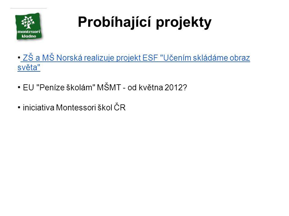Probíhající projekty ZŠ a MŠ Norská realizuje projekt ESF Učením skládáme obraz světa EU Peníze školám MŠMT - od května 2012