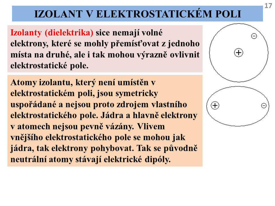 Izolant v elektrostatickém poli