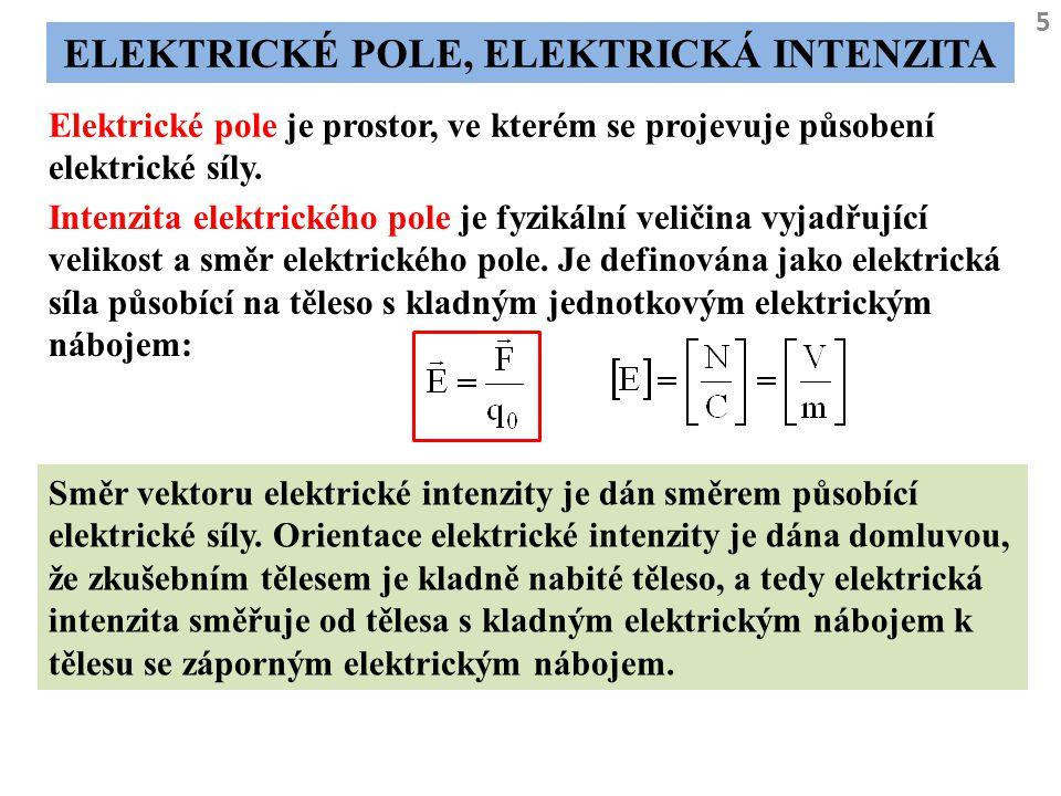 Elektrické pole, elektrická intenzita