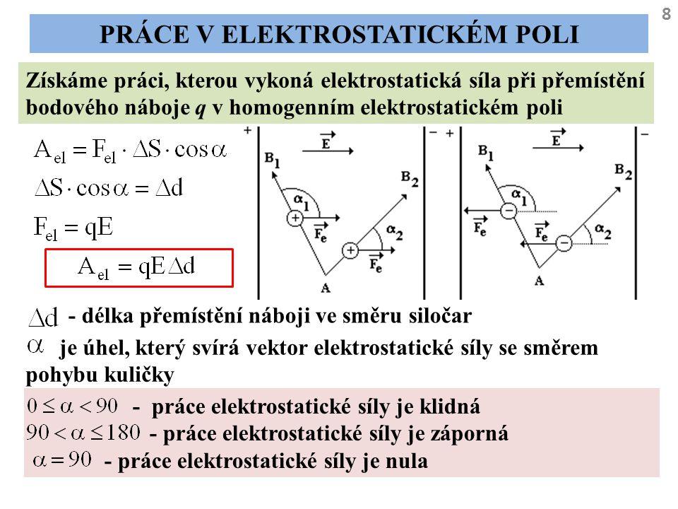 Práce v elektrostatickém poli