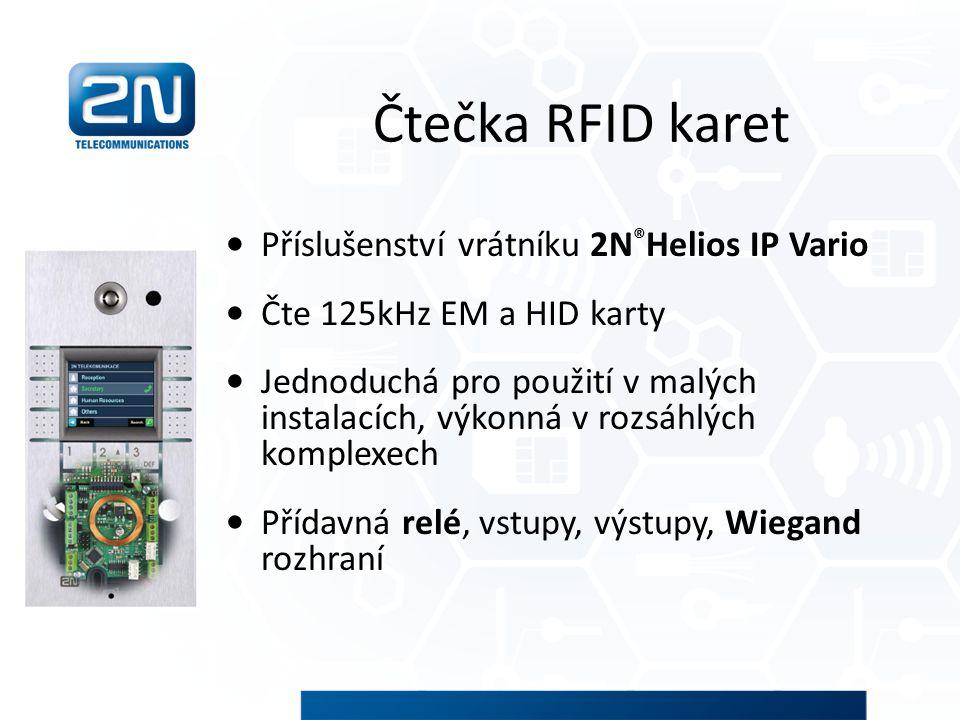 Čtečka RFID karet Příslušenství vrátníku 2N®Helios IP Vario