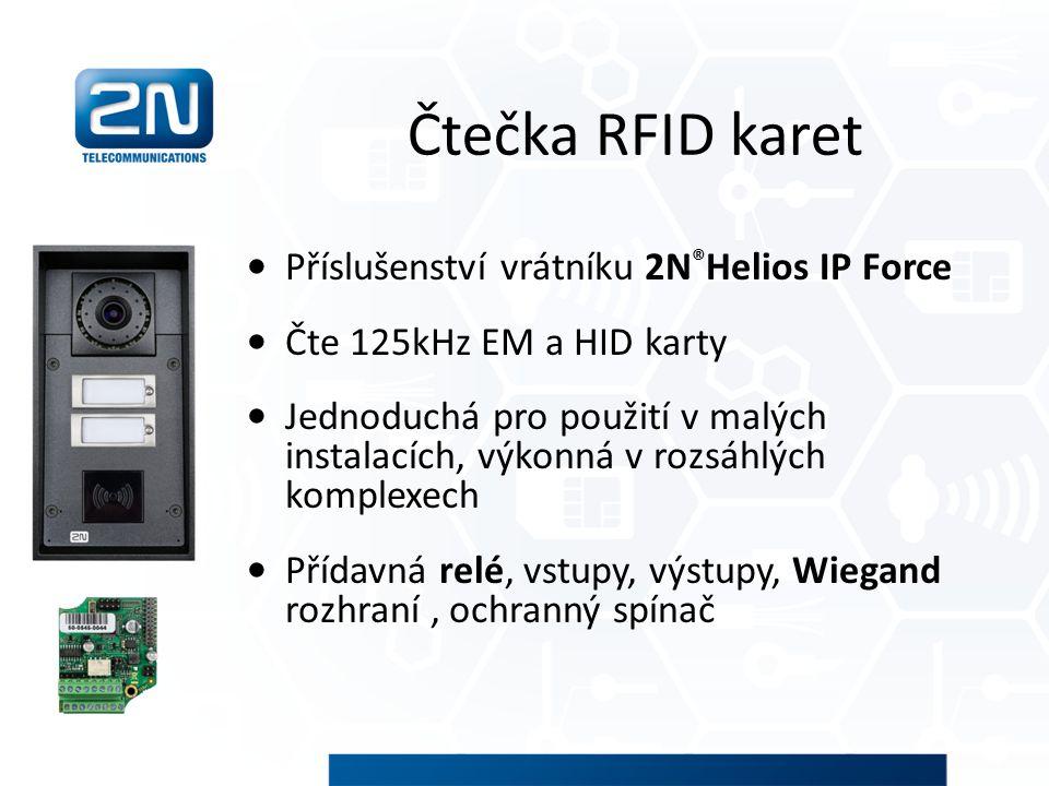 Čtečka RFID karet Příslušenství vrátníku 2N®Helios IP Force