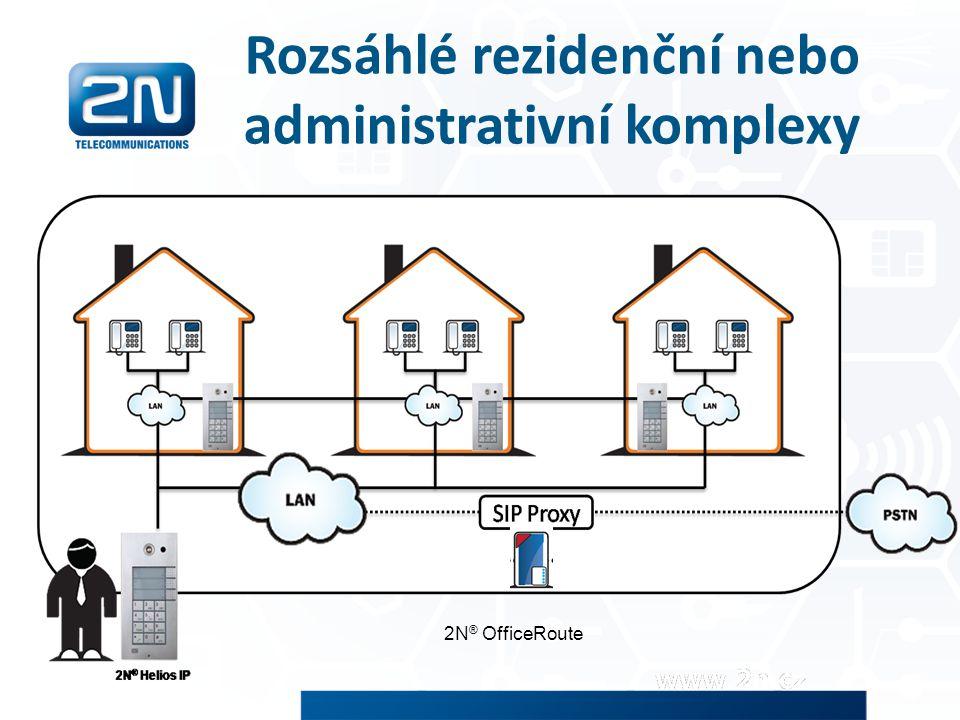Rozsáhlé rezidenční nebo administrativní komplexy