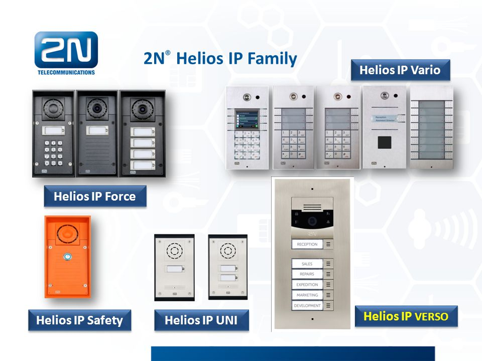 2N® Helios IP Family Helios IP Vario Helios IP VERSO Helios IP Force