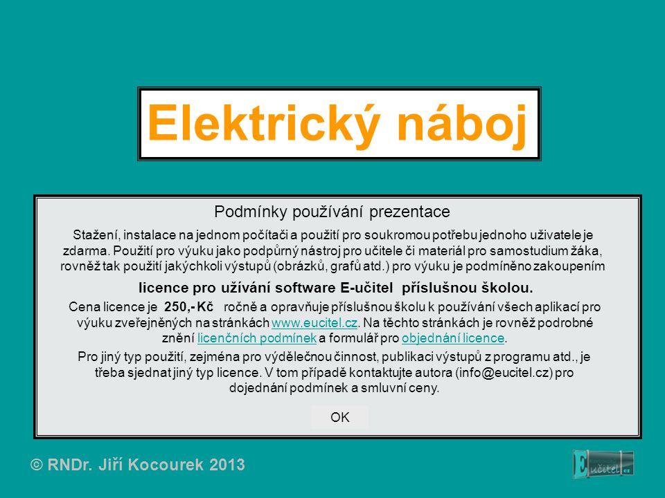 Elektrický náboj Podmínky používání prezentace
