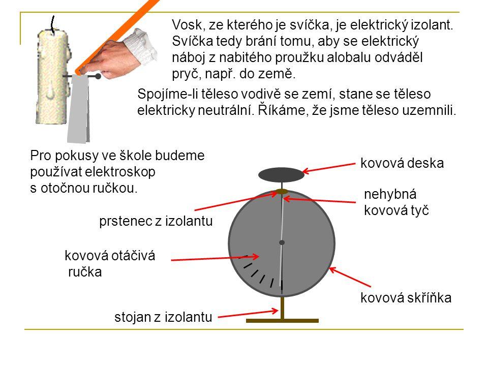Vosk, ze kterého je svíčka, je elektrický izolant