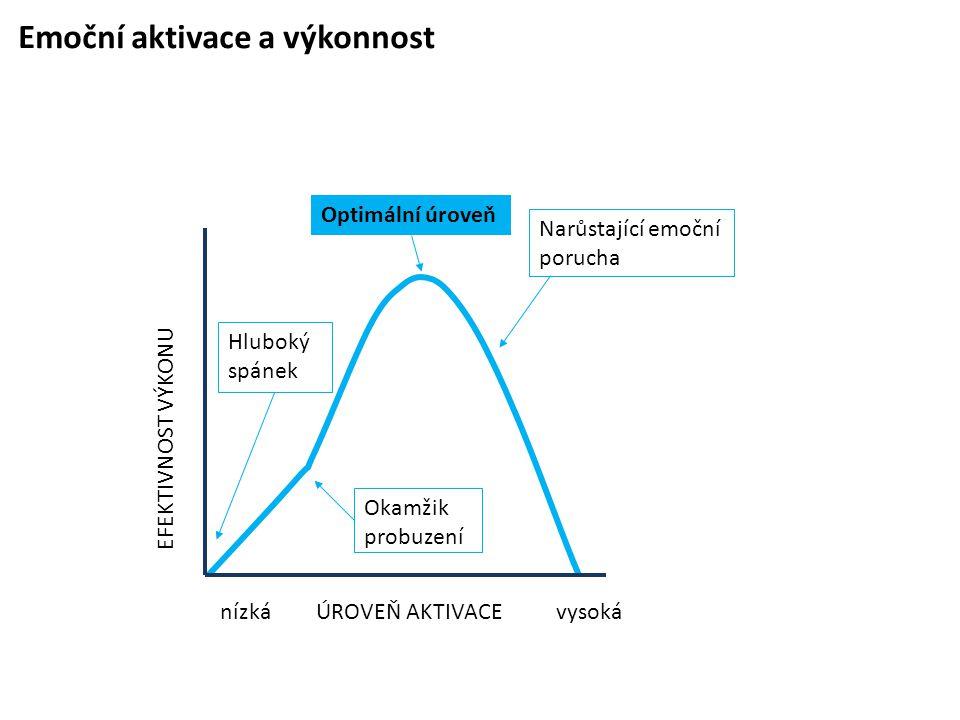 Emoční aktivace a výkonnost