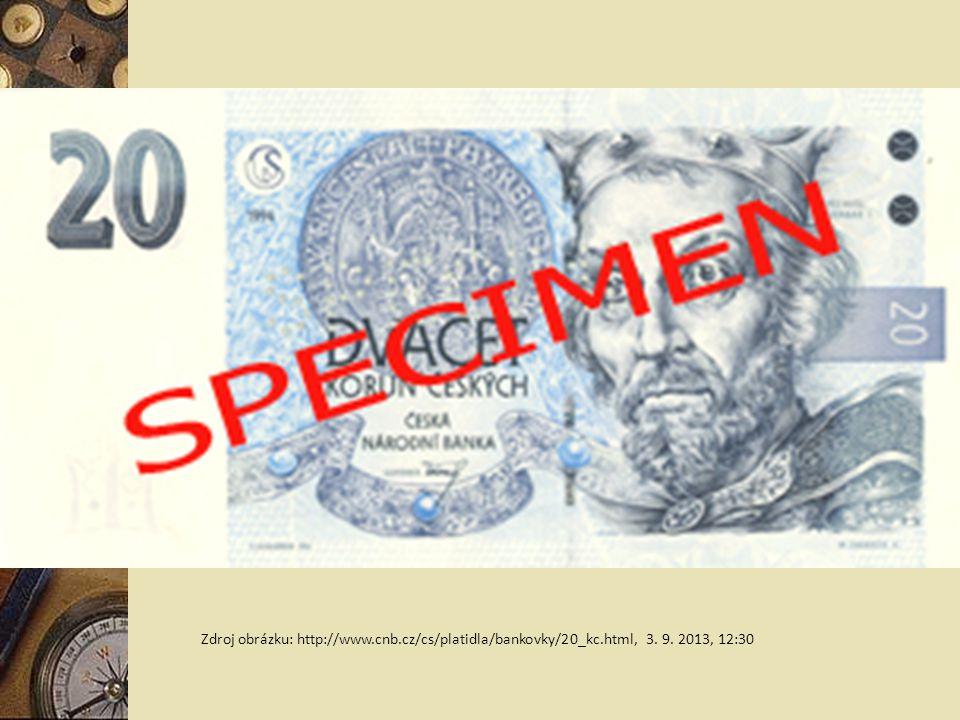 Zdroj obrázku: http://www. cnb. cz/cs/platidla/bankovky/20_kc. html, 3