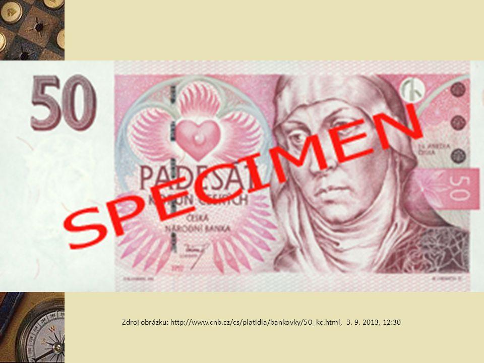 Zdroj obrázku: http://www. cnb. cz/cs/platidla/bankovky/50_kc. html, 3