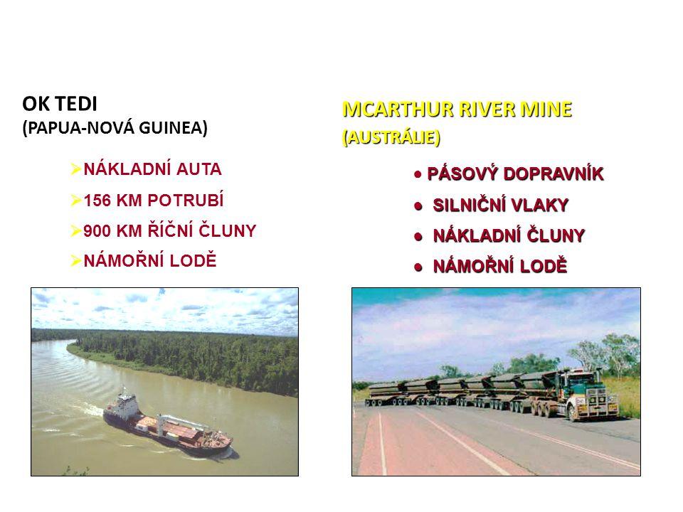 OK TEDI MCARTHUR RIVER MINE (PAPUA-NOVÁ GUINEA) (AUSTRÁLIE)