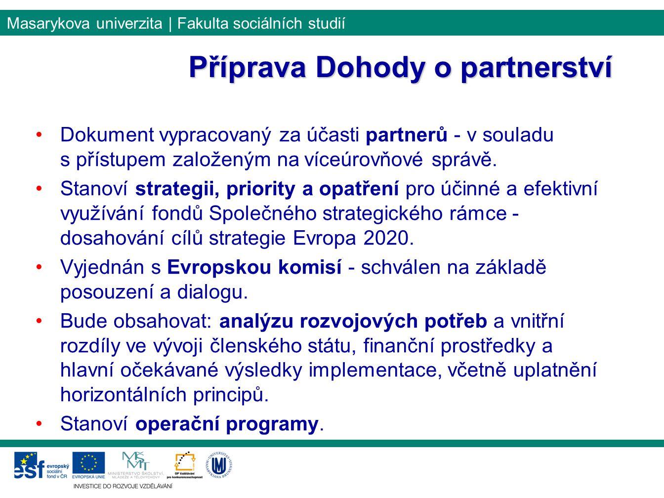 Příprava Dohody o partnerství