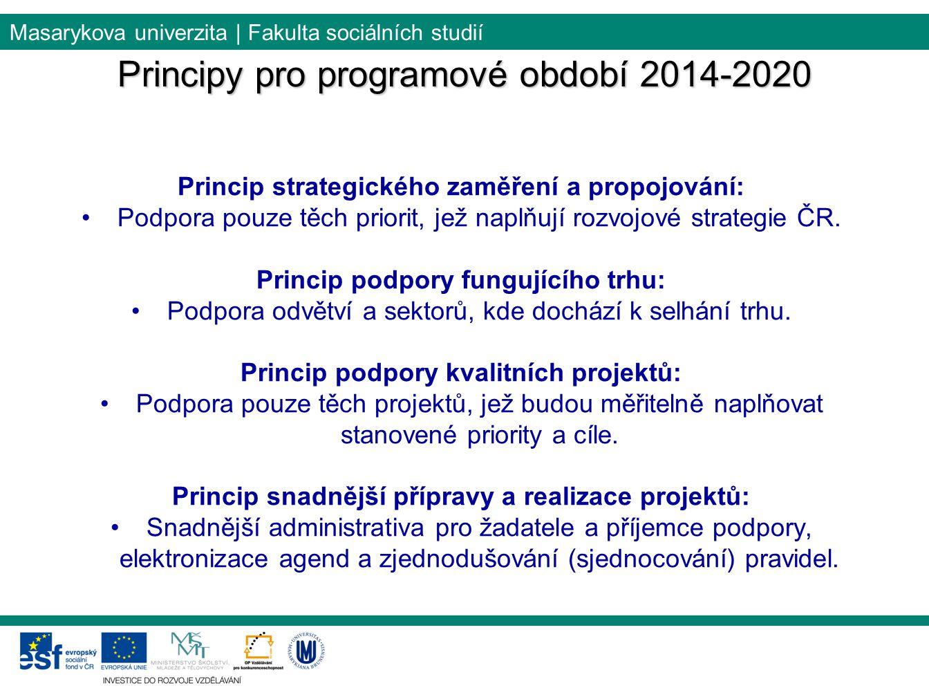 Principy pro programové období 2014-2020