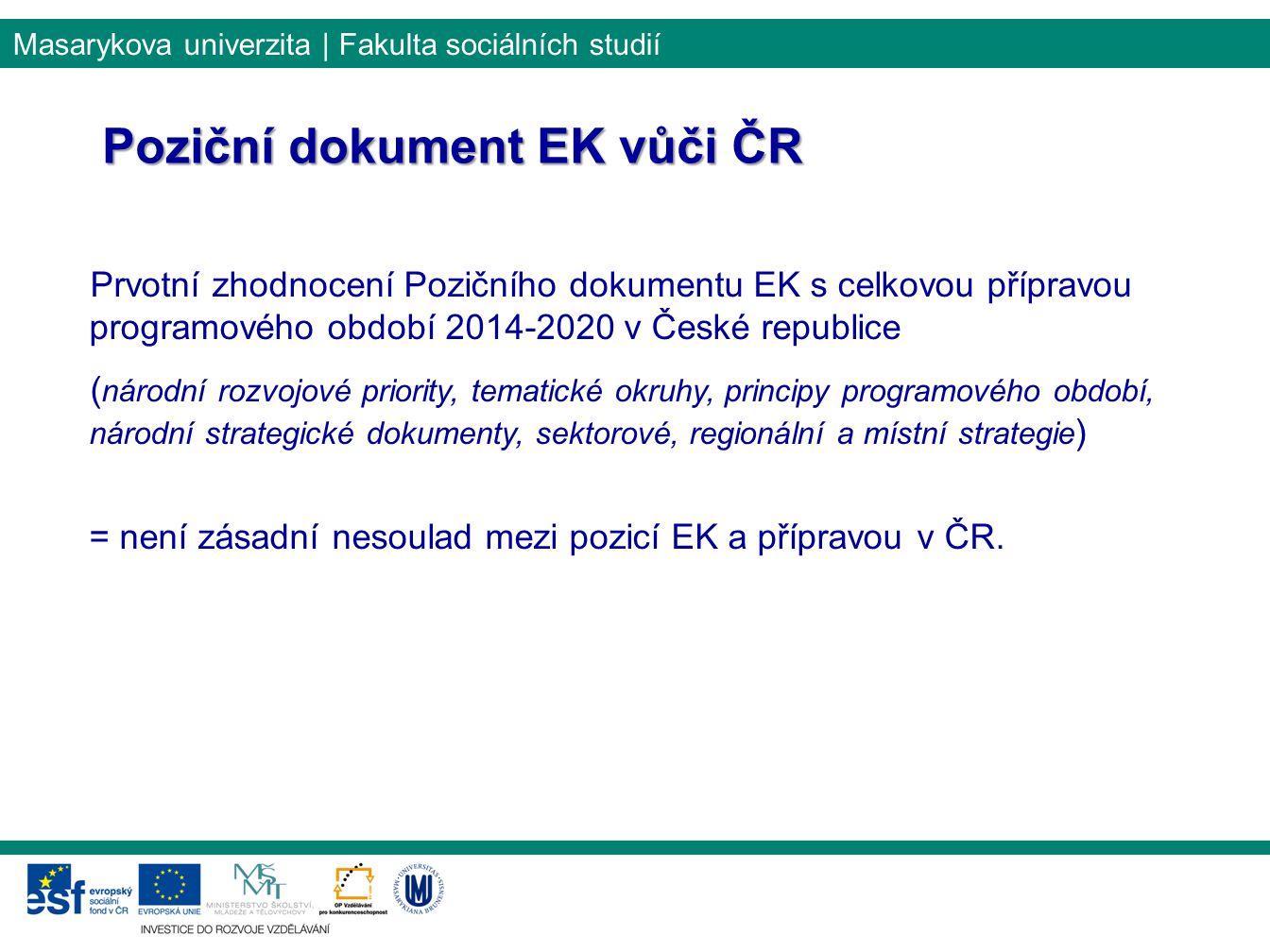 Poziční dokument EK vůči ČR
