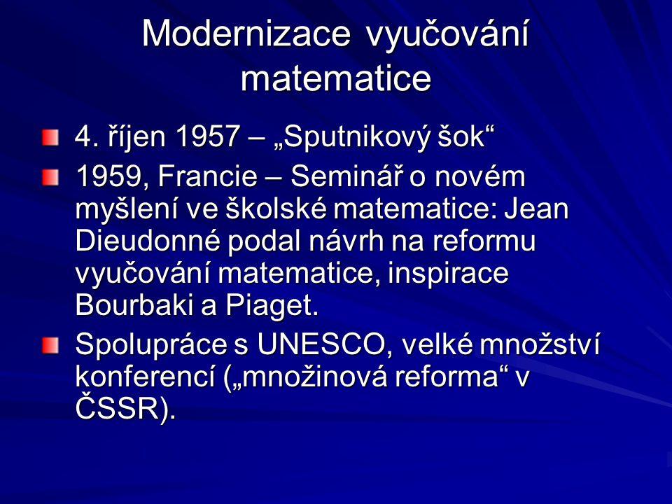 Modernizace vyučování matematice