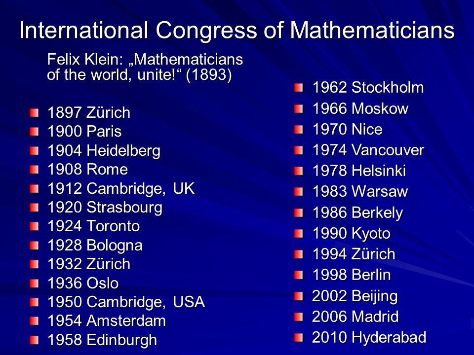 International Congress of Mathematicians
