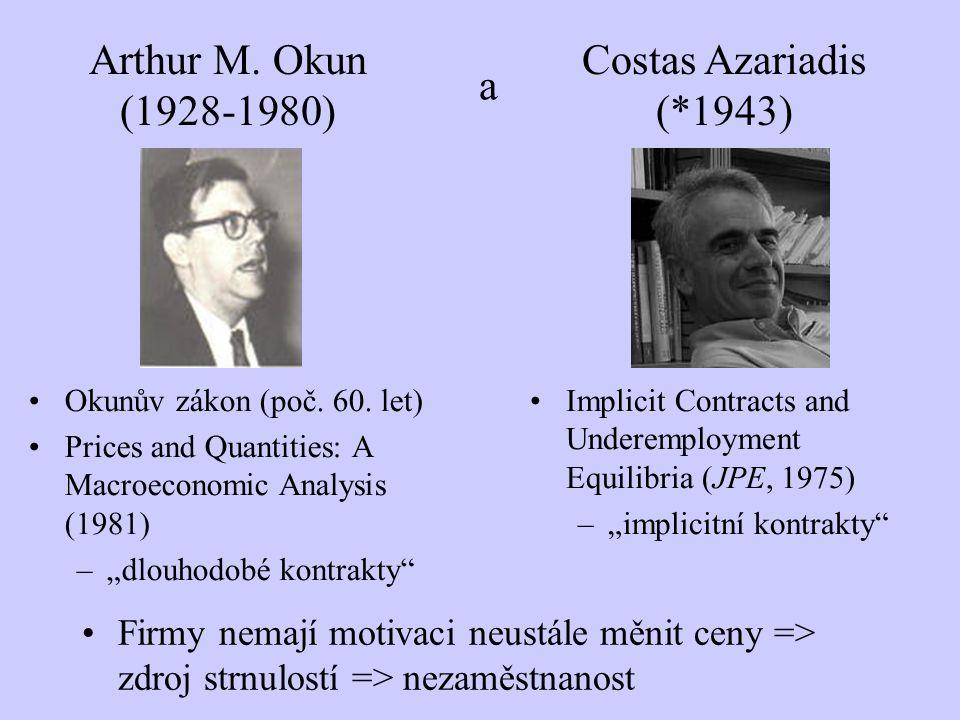 Arthur M. Okun (1928-1980) a Costas Azariadis (*1943)