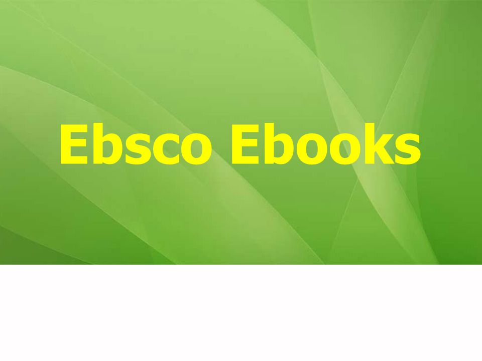 Ebsco Ebooks 19
