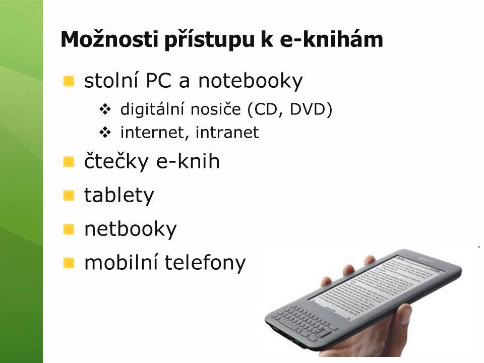 Možnosti přístupu k e-knihám