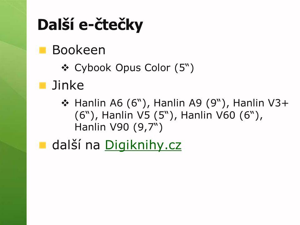 Další e-čtečky Bookeen Jinke další na Digiknihy.cz