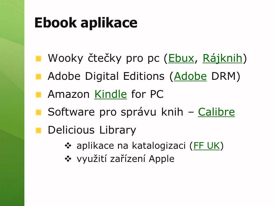 Ebook aplikace Wooky čtečky pro pc (Ebux, Rájknih)
