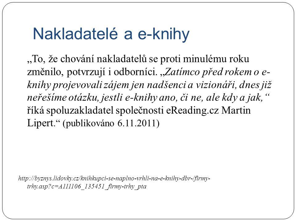 Nakladatelé a e-knihy