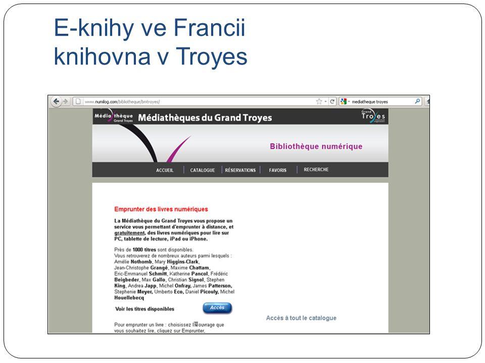 E-knihy ve Francii knihovna v Troyes