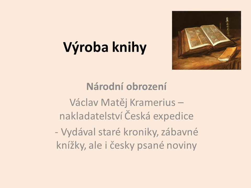 Výroba knihy Národní obrození