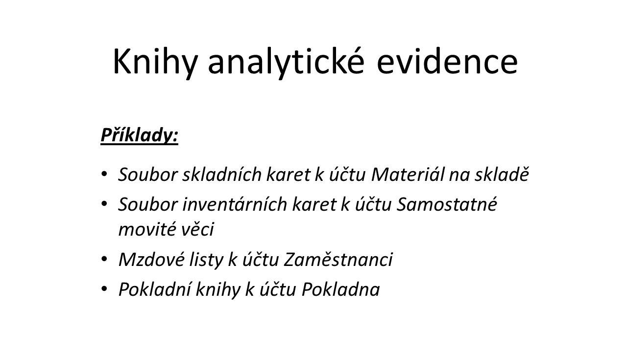 Knihy analytické evidence