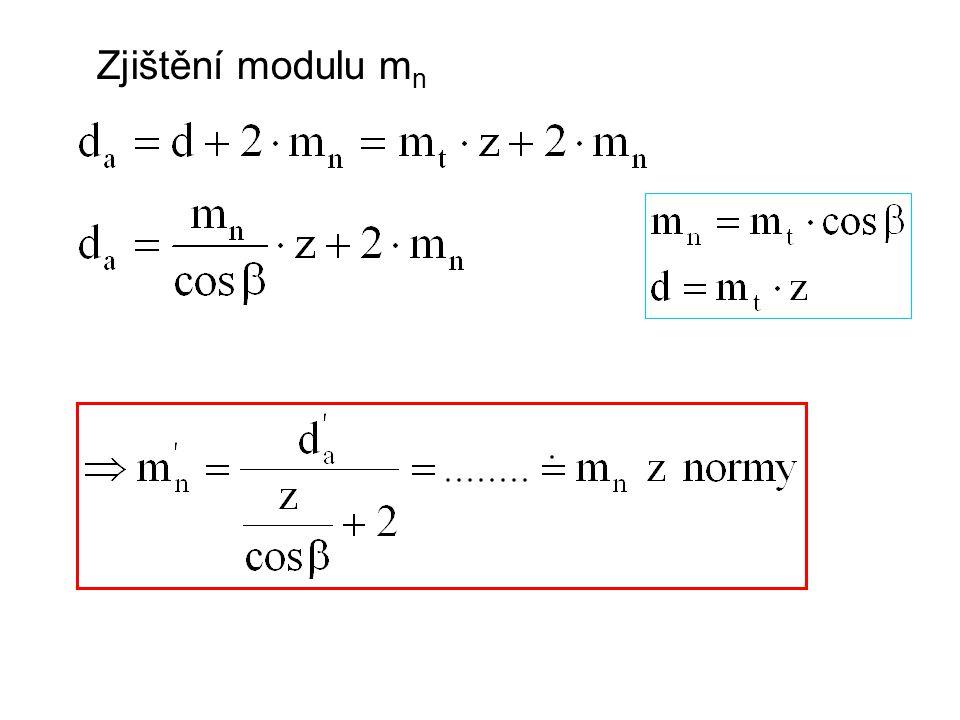 Zjištění modulu mn