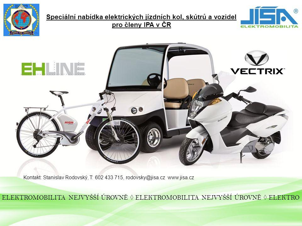 Speciální nabídka elektrických jízdních kol, skútrů a vozidel
