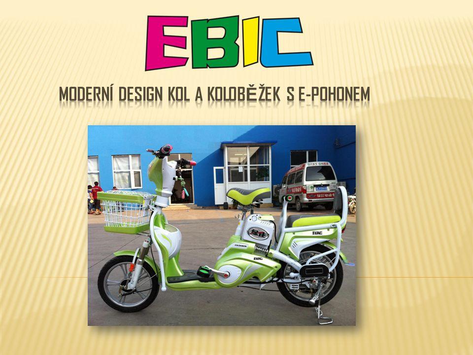 Moderní design kol a koloběžek s e-pohonem