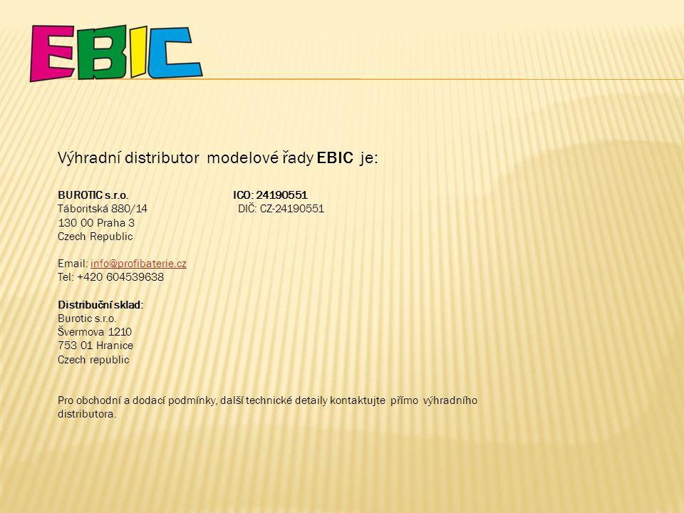 Výhradní distributor modelové řady EBIC je: