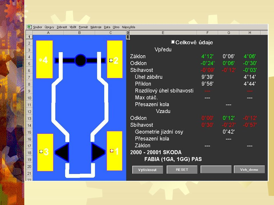 Makra jsou uložená v modulu aplikací Visual Basic