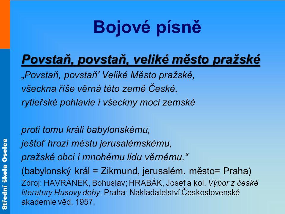 Bojové písně Povstaň, povstaň, veliké město pražské