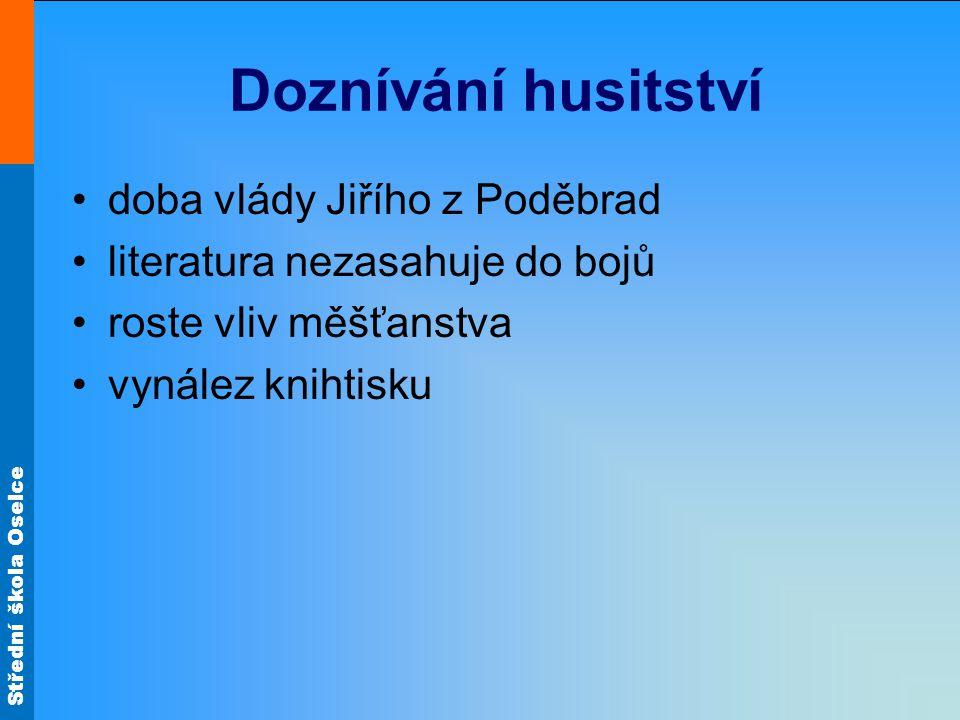 Doznívání husitství doba vlády Jiřího z Poděbrad