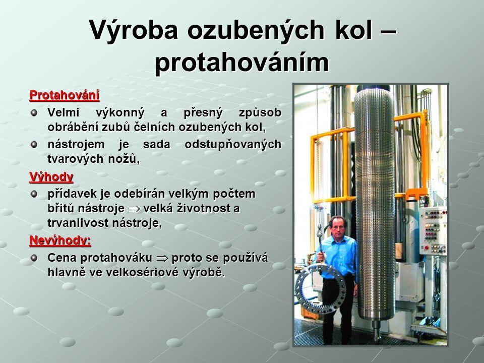 Výroba ozubených kol – protahováním