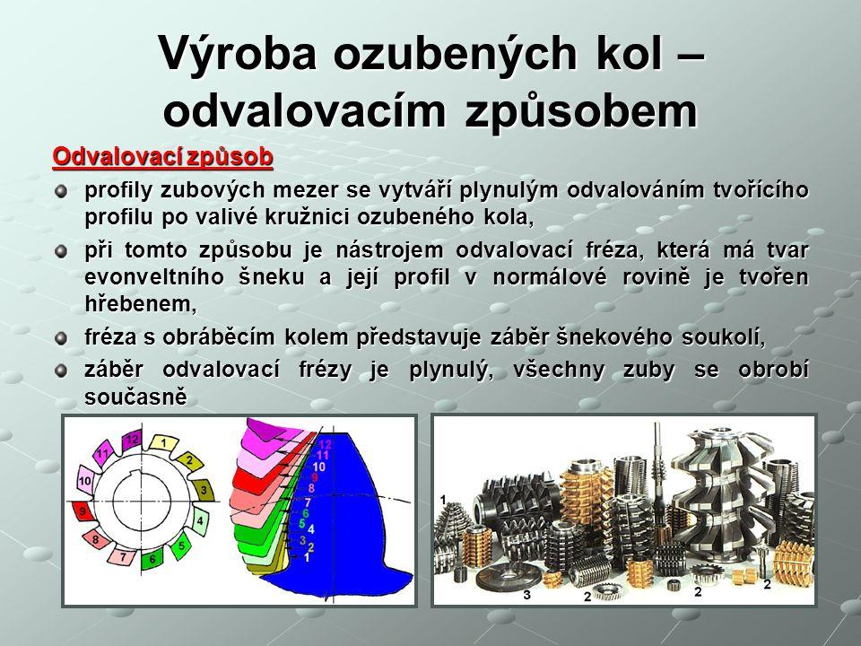 Výroba ozubených kol – odvalovacím způsobem