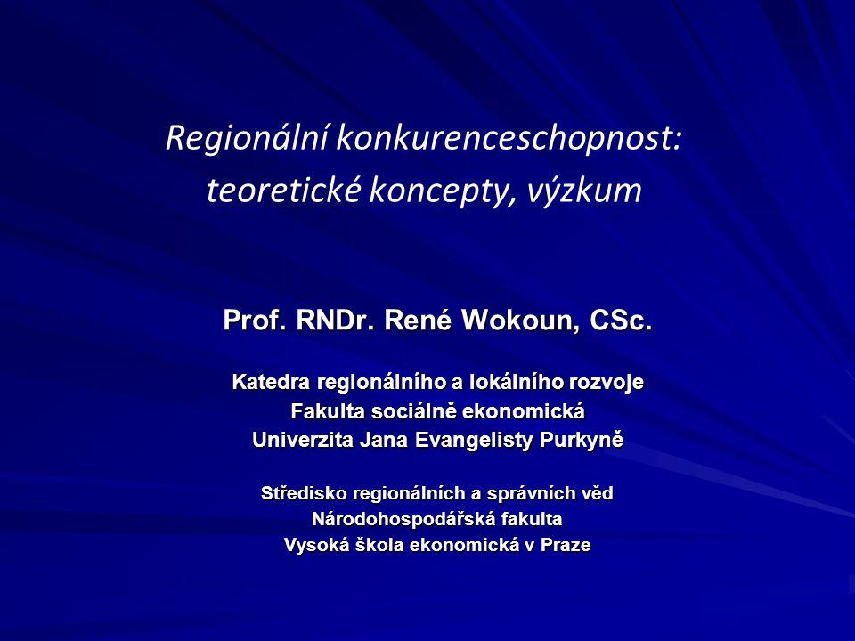 Regionální konkurenceschopnost: teoretické koncepty, výzkum