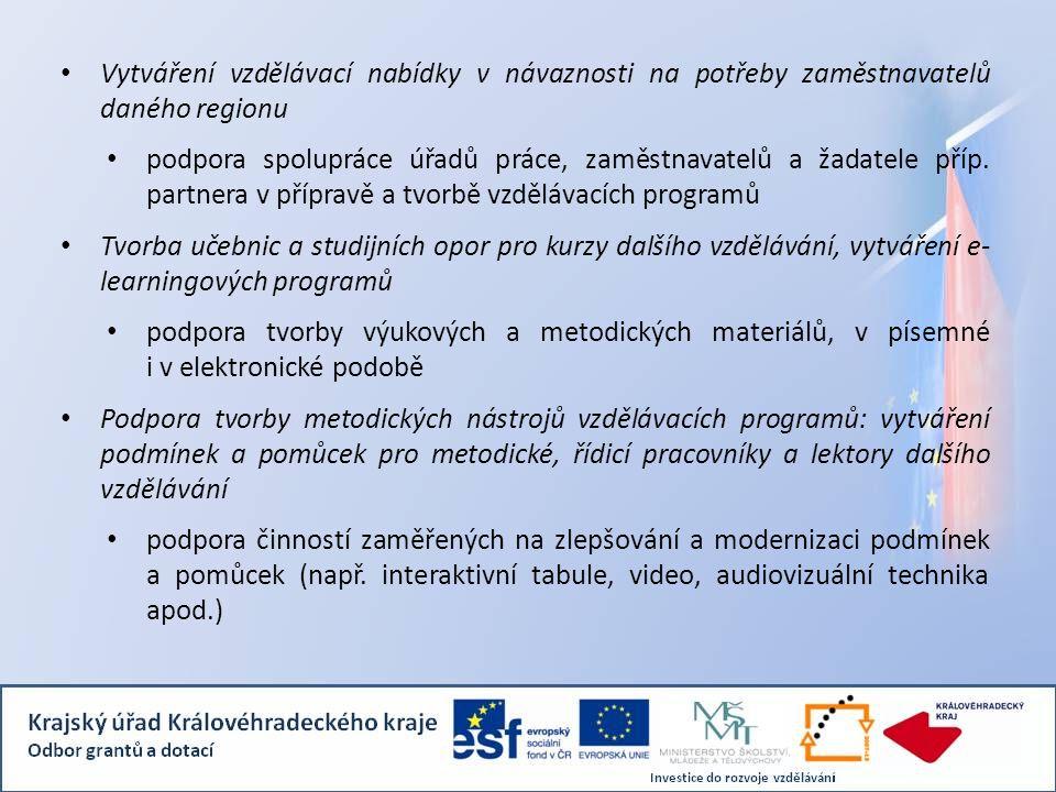 Vytváření vzdělávací nabídky v návaznosti na potřeby zaměstnavatelů daného regionu