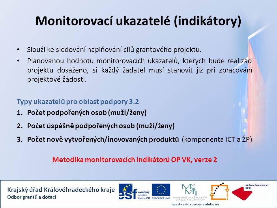 Monitorovací ukazatelé (indikátory)