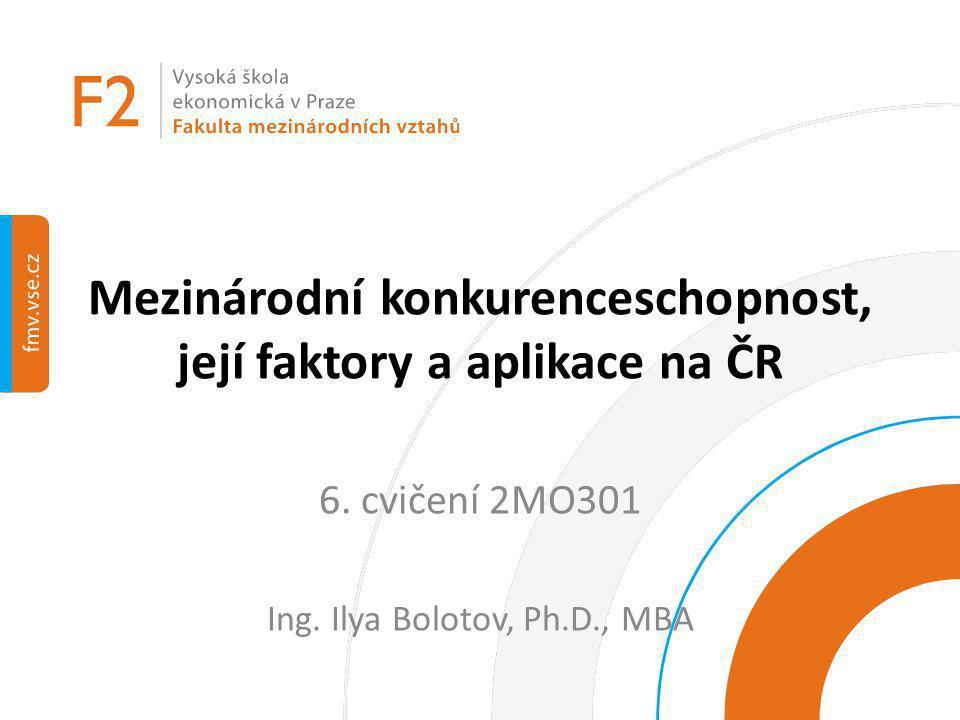 Mezinárodní konkurenceschopnost, její faktory a aplikace na ČR