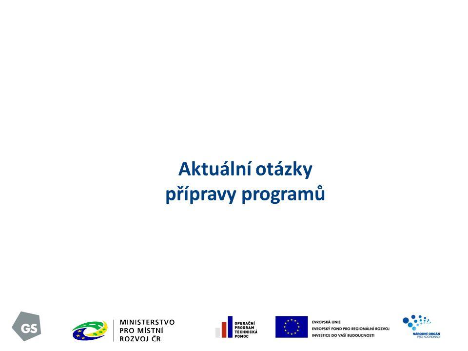 Aktuální otázky přípravy programů