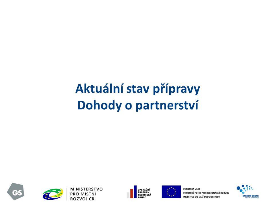 Aktuální stav přípravy Dohody o partnerství