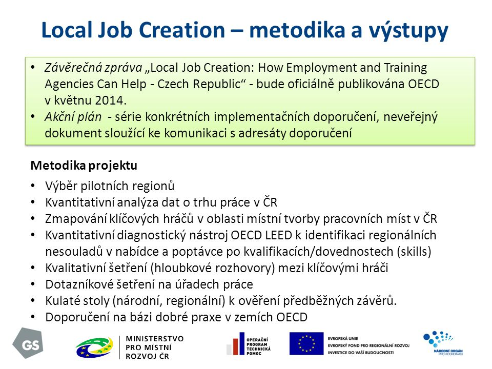 Local Job Creation – metodika a výstupy
