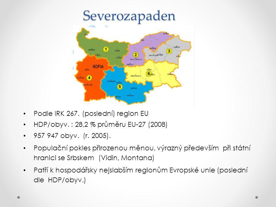 Severozapaden Podle IRK 267. (poslední) region EU