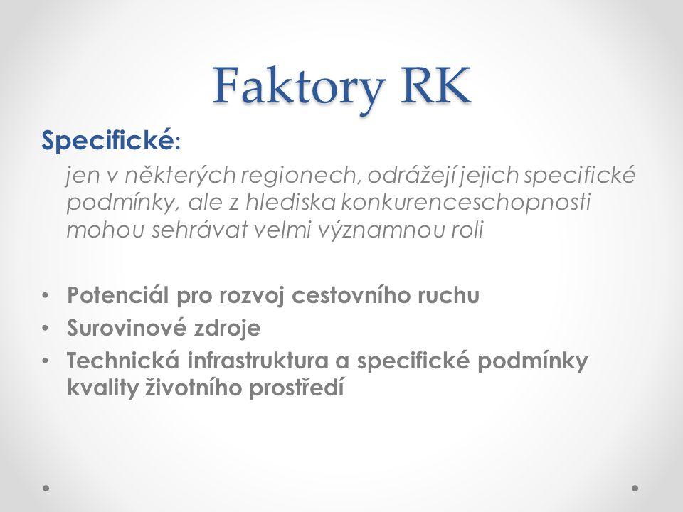 Faktory RK Specifické: