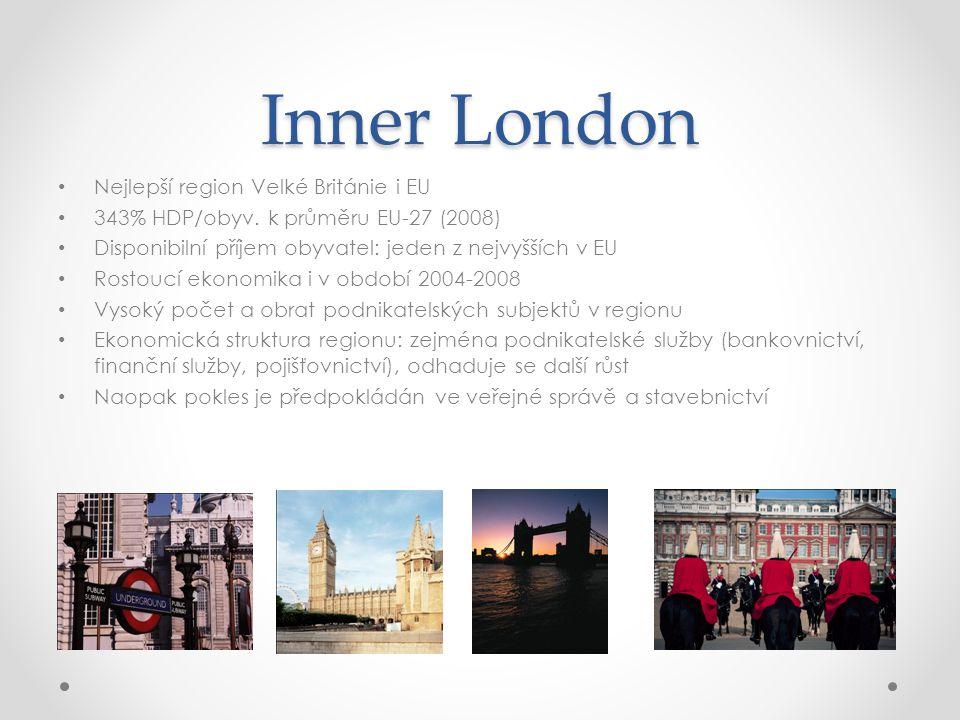 Inner London Nejlepší region Velké Británie i EU