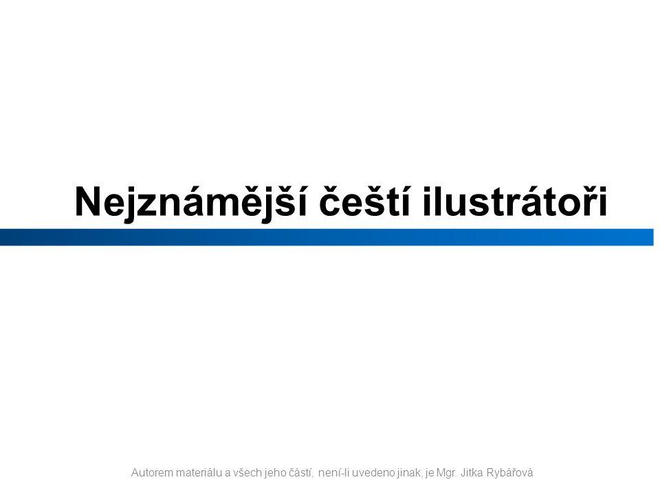 Nejznámější čeští ilustrátoři