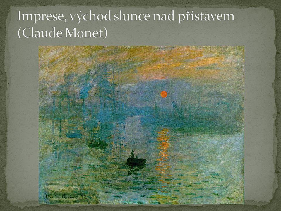 Imprese, východ slunce nad přístavem (Claude Monet)