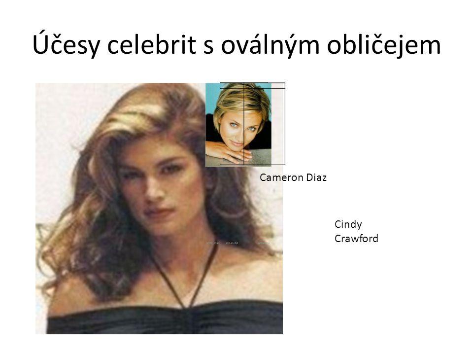 Účesy celebrit s oválným obličejem